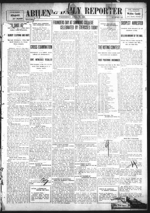 Primary view of object titled 'Abilene Daily Reporter (Abilene, Tex.), Vol. 11, No. 241, Ed. 1 Wednesday, April 17, 1907'.