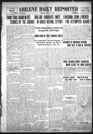 Primary view of object titled 'Abilene Daily Reporter (Abilene, Tex.), Vol. 11, No. 243, Ed. 1 Friday, April 19, 1907'.
