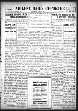 Primary view of object titled 'Abilene Daily Reporter (Abilene, Tex.), Vol. 11, No. 247, Ed. 1 Wednesday, April 24, 1907'.
