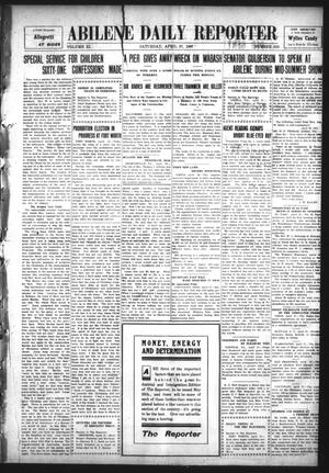 Primary view of object titled 'Abilene Daily Reporter (Abilene, Tex.), Vol. 11, No. 250, Ed. 1 Saturday, April 27, 1907'.