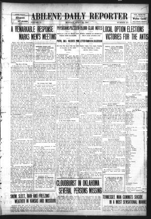 Primary view of object titled 'Abilene Daily Reporter (Abilene, Tex.), Vol. 11, No. 251, Ed. 1 Monday, April 29, 1907'.