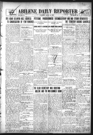 Primary view of object titled 'Abilene Daily Reporter (Abilene, Tex.), Vol. 11, No. 252, Ed. 1 Tuesday, April 30, 1907'.