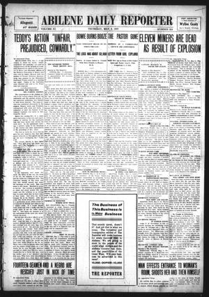 Primary view of object titled 'Abilene Daily Reporter (Abilene, Tex.), Vol. 11, No. 254, Ed. 1 Thursday, May 2, 1907'.