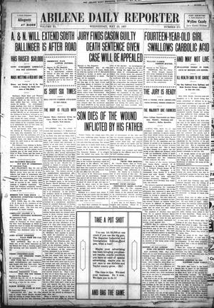 Primary view of object titled 'Abilene Daily Reporter (Abilene, Tex.), Vol. 11, No. 271, Ed. 1 Wednesday, May 22, 1907'.