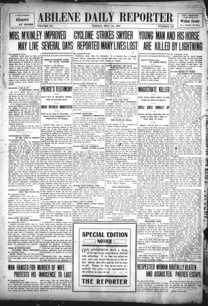Primary view of object titled 'Abilene Daily Reporter (Abilene, Tex.), Vol. 11, No. 273, Ed. 1 Friday, May 24, 1907'.