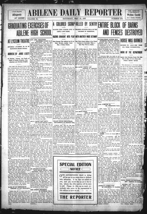 Primary view of object titled 'Abilene Daily Reporter (Abilene, Tex.), Vol. 11, No. 274, Ed. 1 Saturday, May 25, 1907'.