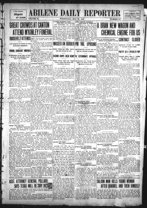 Primary view of object titled 'Abilene Daily Reporter (Abilene, Tex.), Vol. 11, No. 277, Ed. 1 Wednesday, May 29, 1907'.