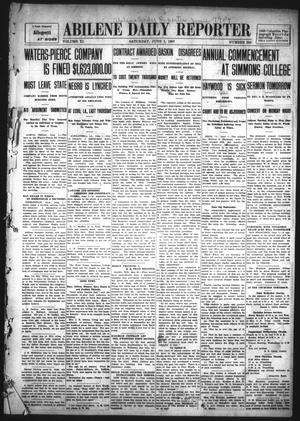 Primary view of object titled 'Abilene Daily Reporter (Abilene, Tex.), Vol. 11, No. 280, Ed. 1 Saturday, June 1, 1907'.