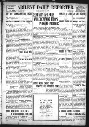 Primary view of object titled 'Abilene Daily Reporter (Abilene, Tex.), Vol. 11, No. 290, Ed. 1 Friday, June 14, 1907'.