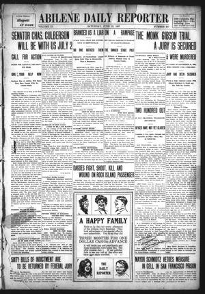 Primary view of object titled 'Abilene Daily Reporter (Abilene, Tex.), Vol. 11, No. 297, Ed. 1 Saturday, June 22, 1907'.