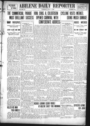 Primary view of object titled 'Abilene Daily Reporter (Abilene, Tex.), Vol. 11, No. 305, Ed. 1 Tuesday, July 2, 1907'.