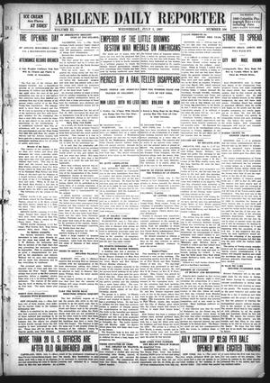 Primary view of object titled 'Abilene Daily Reporter (Abilene, Tex.), Vol. 11, No. 306, Ed. 1 Wednesday, July 3, 1907'.