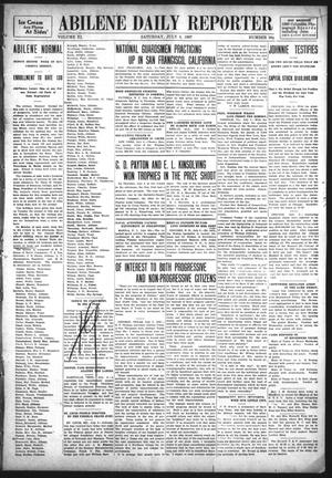 Primary view of object titled 'Abilene Daily Reporter (Abilene, Tex.), Vol. 11, No. 309, Ed. 1 Saturday, July 6, 1907'.