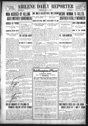 Primary view of object titled 'Abilene Daily Reporter (Abilene, Tex.), Vol. 11, No. 311, Ed. 1 Tuesday, July 9, 1907'.