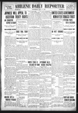 Primary view of object titled 'Abilene Daily Reporter (Abilene, Tex.), Vol. 11, No. 312, Ed. 1 Wednesday, July 10, 1907'.