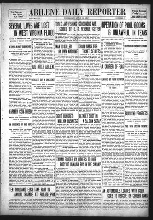 Primary view of object titled 'Abilene Daily Reporter (Abilene, Tex.), Vol. 12, No. 7, Ed. 1 Thursday, July 18, 1907'.