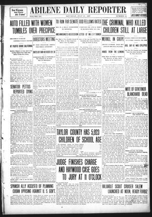 Primary view of object titled 'Abilene Daily Reporter (Abilene, Tex.), Vol. 12, No. 15, Ed. 1 Saturday, July 27, 1907'.