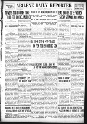 Primary view of object titled 'Abilene Daily Reporter (Abilene, Tex.), Vol. 12, No. 17, Ed. 1 Tuesday, July 30, 1907'.