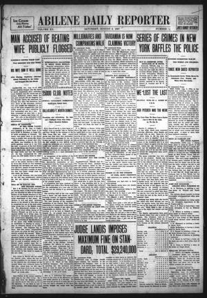 Primary view of object titled 'Abilene Daily Reporter (Abilene, Tex.), Vol. 12, No. 21, Ed. 1 Saturday, August 3, 1907'.