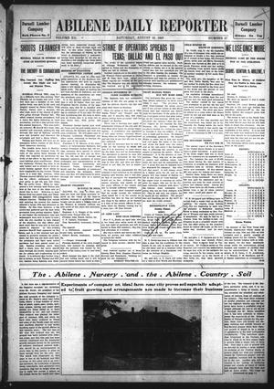 Primary view of object titled 'Abilene Daily Reporter (Abilene, Tex.), Vol. 12, No. 27, Ed. 1 Saturday, August 10, 1907'.