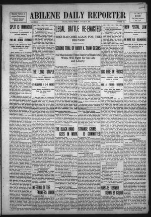 Primary view of object titled 'Abilene Daily Reporter (Abilene, Tex.), Vol. 12, No. 142, Ed. 1 Monday, January 6, 1908'.