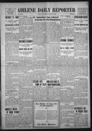 Primary view of object titled 'Abilene Daily Reporter (Abilene, Tex.), Vol. 12, No. 176, Ed. 1 Friday, February 14, 1908'.