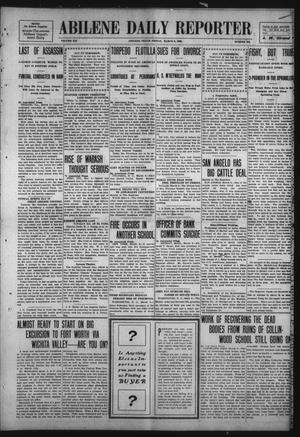 Primary view of object titled 'Abilene Daily Reporter (Abilene, Tex.), Vol. 12, No. 194, Ed. 1 Friday, March 6, 1908'.