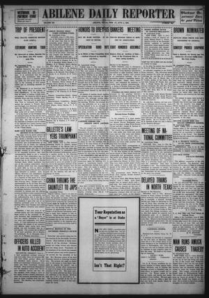Primary view of object titled 'Abilene Daily Reporter (Abilene, Tex.), Vol. 12, No. 269, Ed. 1 Friday, June 5, 1908'.