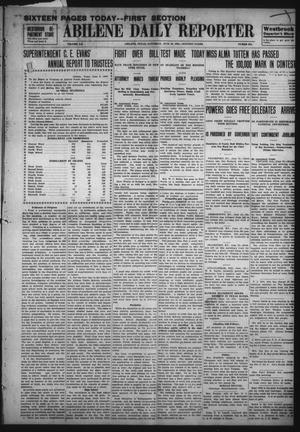 Primary view of object titled 'Abilene Daily Reporter (Abilene, Tex.), Vol. 12, No. 275, Ed. 1 Saturday, June 13, 1908'.