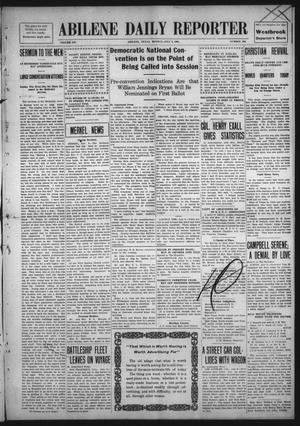 Primary view of Abilene Daily Reporter (Abilene, Tex.), Vol. 12, No. 290, Ed. 1 Monday, July 6, 1908