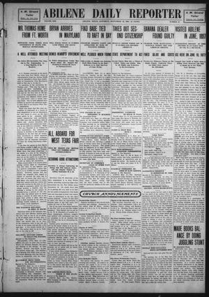 Primary view of object titled 'Abilene Daily Reporter (Abilene, Tex.), Vol. 13, No. 11, Ed. 1 Saturday, September 12, 1908'.
