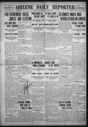 Primary view of object titled 'Abilene Daily Reporter (Abilene, Tex.), Vol. 13, No. 70, Ed. 1 Saturday, November 14, 1908'.