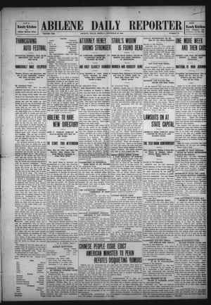 Primary view of object titled 'Abilene Daily Reporter (Abilene, Tex.), Vol. 13, No. 72, Ed. 1 Monday, November 16, 1908'.