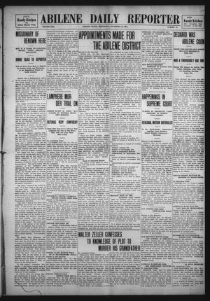 Primary view of object titled 'Abilene Daily Reporter (Abilene, Tex.), Vol. 13, No. 74, Ed. 1 Wednesday, November 18, 1908'.