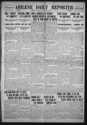 Primary view of object titled 'Abilene Daily Reporter (Abilene, Tex.), Vol. 13, No. 75, Ed. 1 Thursday, November 19, 1908'.