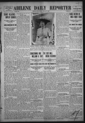 Primary view of object titled 'Abilene Daily Reporter (Abilene, Tex.), Vol. 13, No. 154, Ed. 1 Sunday, February 7, 1909'.