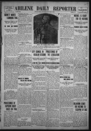 Primary view of object titled 'Abilene Daily Reporter (Abilene, Tex.), Vol. 13, No. 157, Ed. 1 Wednesday, February 10, 1909'.