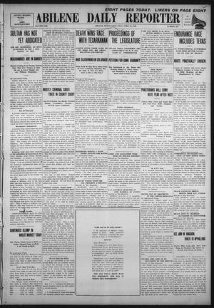 Primary view of object titled 'Abilene Daily Reporter (Abilene, Tex.), Vol. 13, No. 228, Ed. 1 Thursday, April 22, 1909'.