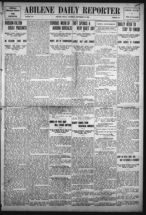 Primary view of object titled 'Abilene Daily Reporter (Abilene, Tex.), Vol. 14, No. 19, Ed. 1 Saturday, September 25, 1909'.