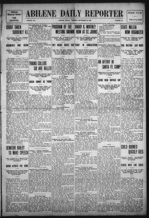 Primary view of object titled 'Abilene Daily Reporter (Abilene, Tex.), Vol. 14, No. 22, Ed. 1 Tuesday, September 28, 1909'.