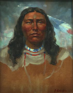 Primary view of object titled 'Lone Elk, Sioux Chief'.