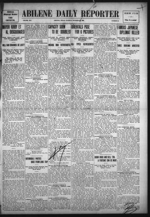 Primary view of object titled 'Abilene Daily Reporter (Abilene, Tex.), Vol. 14, No. 48, Ed. 1 Tuesday, October 26, 1909'.