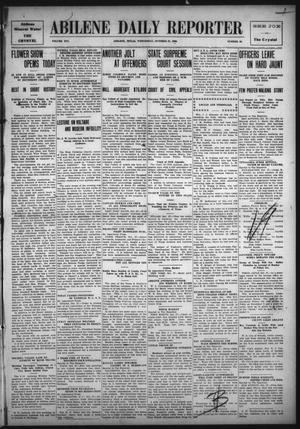 Primary view of object titled 'Abilene Daily Reporter (Abilene, Tex.), Vol. 14, No. 49, Ed. 1 Wednesday, October 27, 1909'.