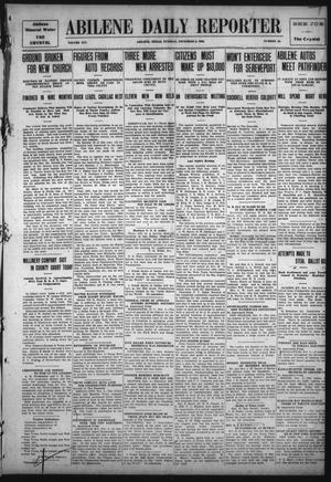 Primary view of object titled 'Abilene Daily Reporter (Abilene, Tex.), Vol. 14, No. 55, Ed. 1 Tuesday, November 2, 1909'.