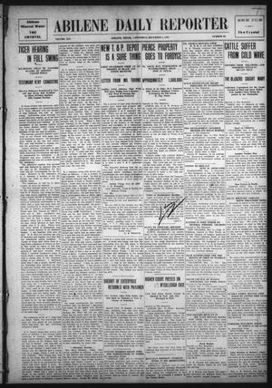 Primary view of object titled 'Abilene Daily Reporter (Abilene, Tex.), Vol. 14, No. 90, Ed. 1 Wednesday, December 8, 1909'.