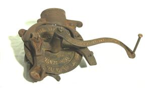 Primary view of object titled 'Corn sheller'.