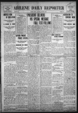 Primary view of object titled 'Abilene Daily Reporter (Abilene, Tex.), Vol. 14, No. 118, Ed. 1 Saturday, January 8, 1910'.