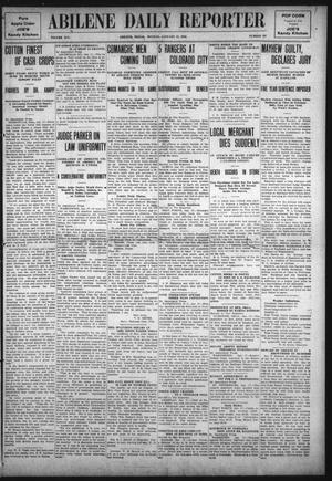 Primary view of object titled 'Abilene Daily Reporter (Abilene, Tex.), Vol. 14, No. 127, Ed. 1 Monday, January 17, 1910'.