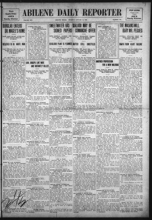 Primary view of object titled 'Abilene Daily Reporter (Abilene, Tex.), Vol. 14, No. 128, Ed. 1 Tuesday, January 18, 1910'.