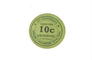 Primary view of object titled '[10-Cent Token]'.